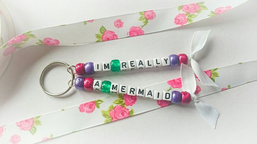 I'm really a mermaid keyring