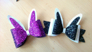 Bunny Glitter Bow With Tail