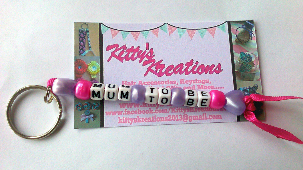 Mum to be keyring