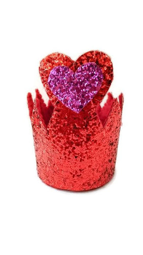 Red Queen Glitter Crown