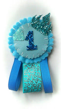 Load image into Gallery viewer, Princess Birthday Number Badge (Blue)