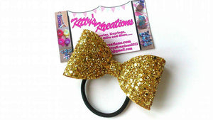 Gold Mini Glitter Bow, Small Gold Bow