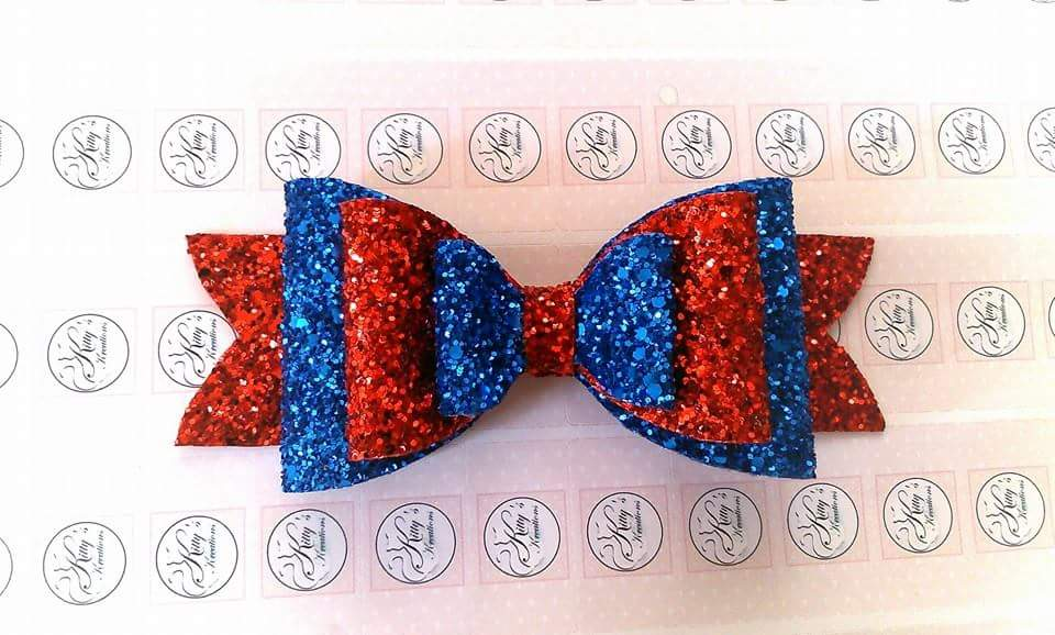 Large Triple Layered Glitter Bow