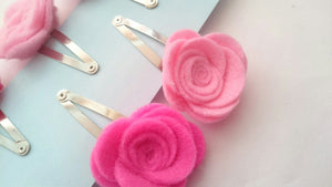 Pink rose clip set