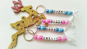 Personalised keyrings (single name/word)