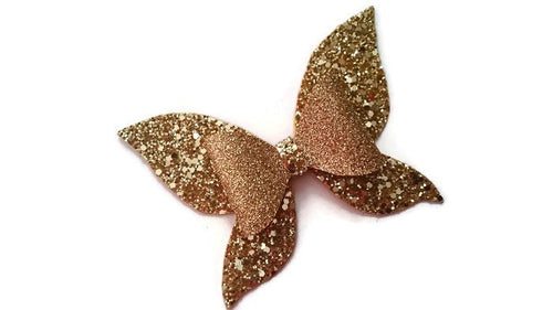 Gold Butterfly Hair Bow