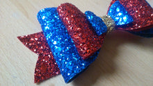 Load image into Gallery viewer, Large Triple Layered Glitter Bow