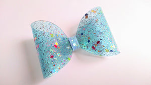 Blue jelly mini bow