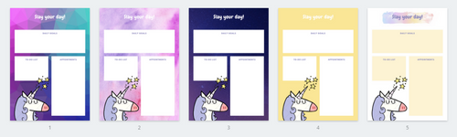 Slay your day, daily planner (unicorn)
