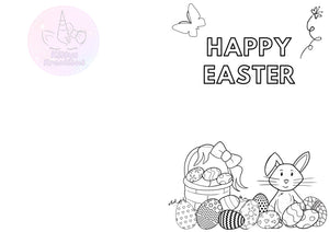 Colour In Easter Card Printable