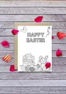 Colour in Easter Card