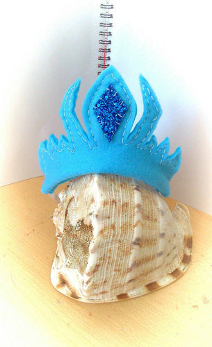 Blue princess crown
