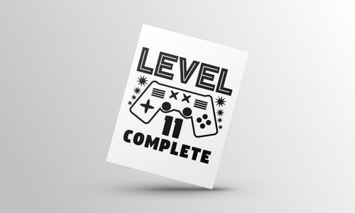 Level complete birthday card