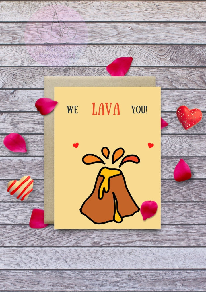 We Lava You Printable Card Printable