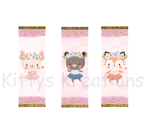 Woodland animals bookmark set