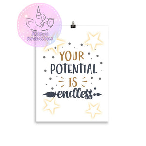 Your Potential Is Endless Poster 30×40 Cm
