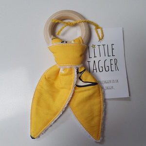 Swallow Print Baby Teether - Yellow - Loola Loves UK