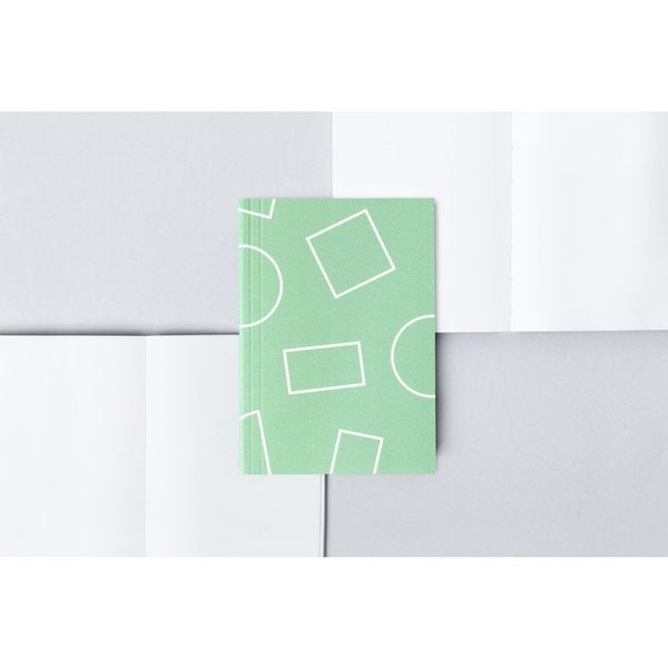Pocket Layflat Notebook - Shapes Print