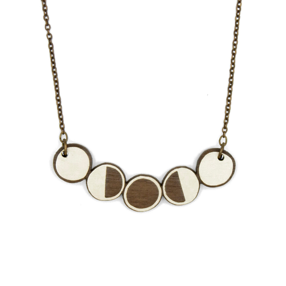 Moon Phases Necklace - Loola Loves UK