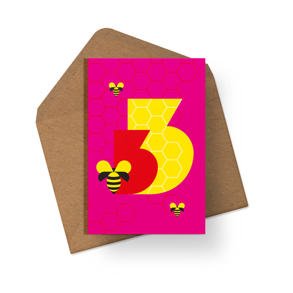 3rd Birthday - Multipack of 6 Cards - Loola Loves UK