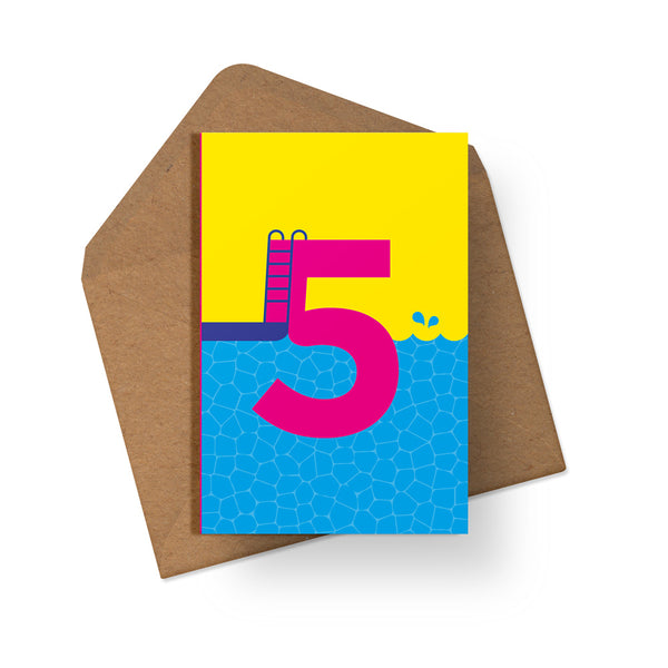 5th Birthday - Multipack of 6 Cards - Loola Loves UK