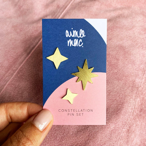 Constellation Pin Badge Set