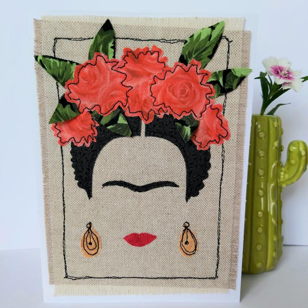 Frida Kahlo Handmade Card (Medium) - Loola Loves UK