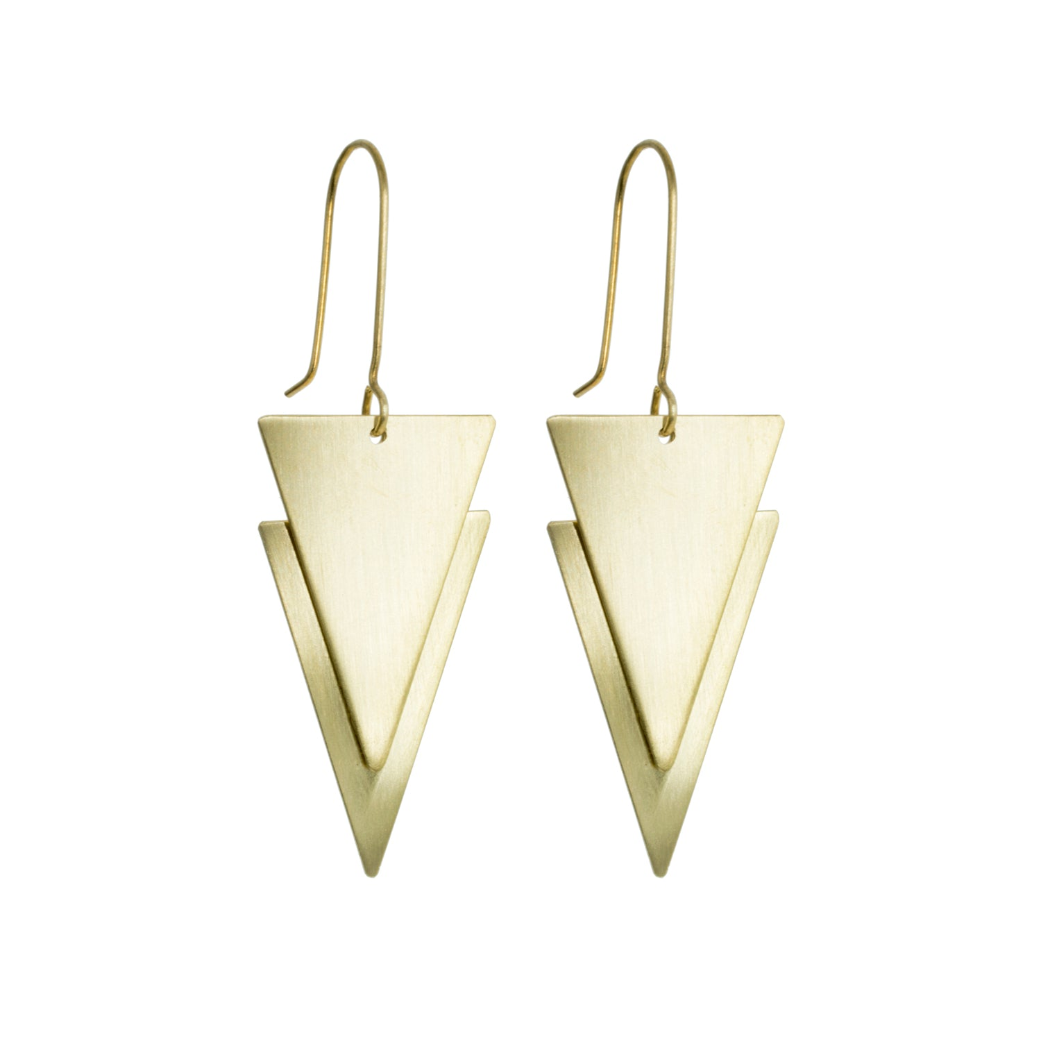 Geometric 'Lucie' Brass Earrings - Loola Loves UK