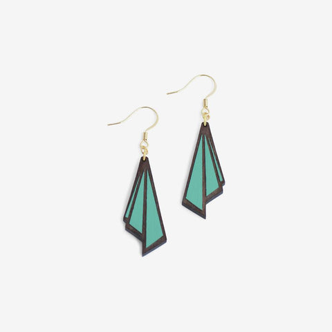 Huître Teal Hook Earrings - Loola Loves UK