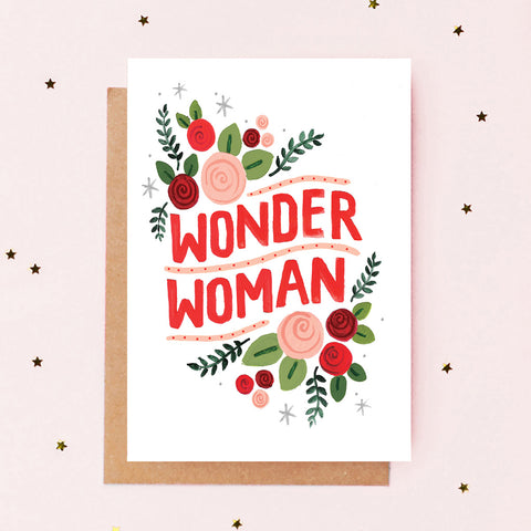 Wonder Woman Card - Loola Loves UK