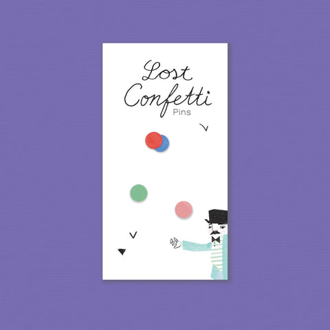 Lost Confetti Porcelain Pins - Loola Loves UK