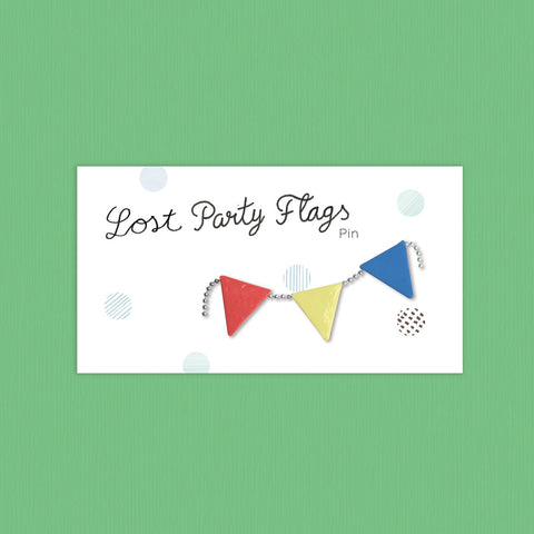 Lost Party Flags Porcelain Pin - Loola Loves UK