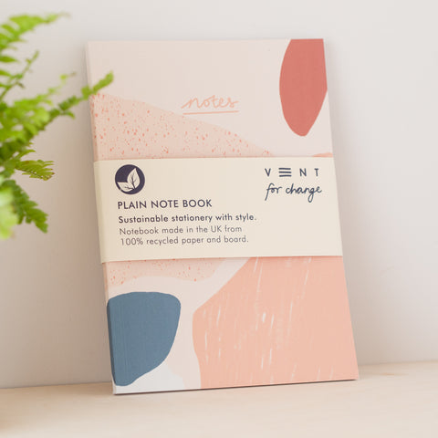 Recycled NOTES Book - Coral - Loola Loves UK