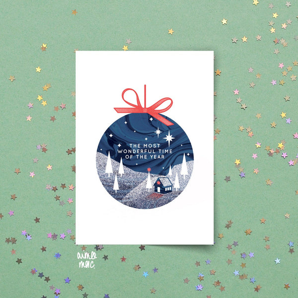 Northern Lights Christmas Card Set (4 pack)