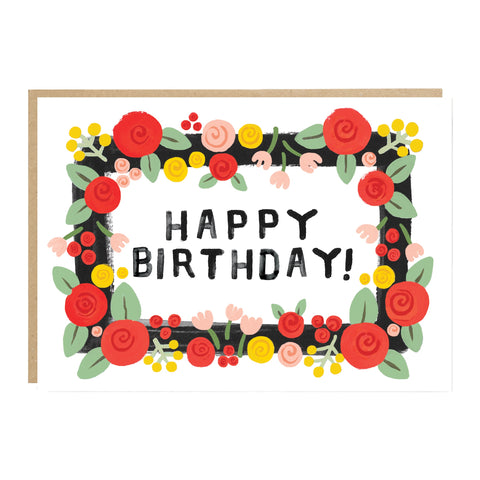 Happy Birthday Floral Card - Loola Loves UK