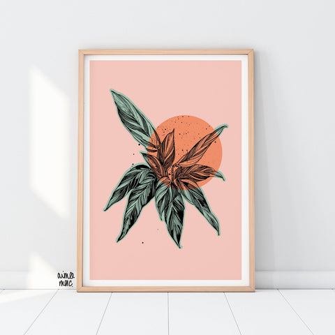 Orange Calathea Print - A4 - Loola Loves UK