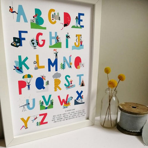 Outdoorsy Alphabet Print - A4 - Loola Loves UK