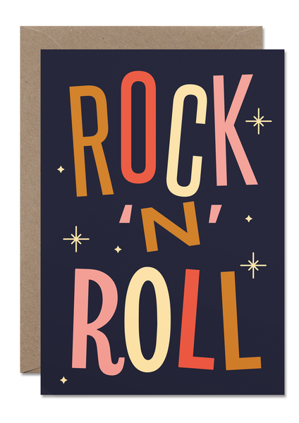 Rock 'N' Roll Card - Loola Loves UK
