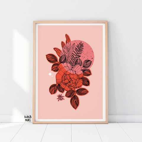 Rose & Sage Print - A4 - Loola Loves UK