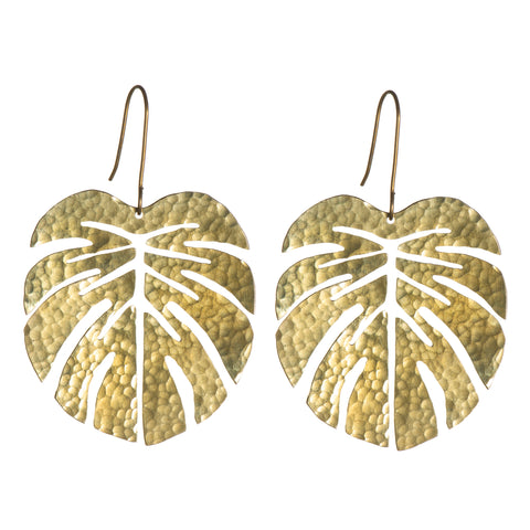 SOT Tropical Leaf Earrings - Large