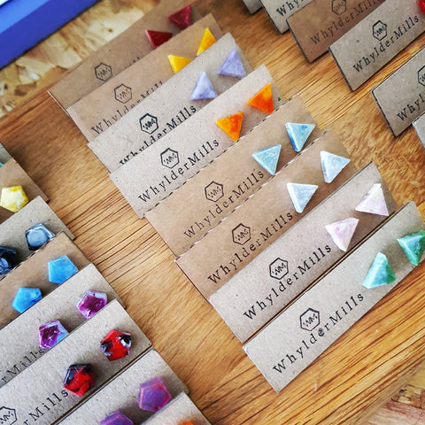 Triangle Studs - Whylder Mills - Loola Loves UK