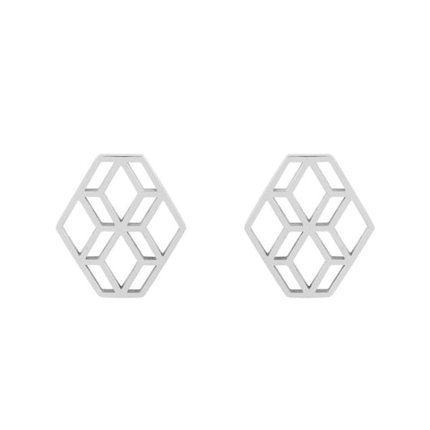 Diamond Hex Studs - Loola Loves UK