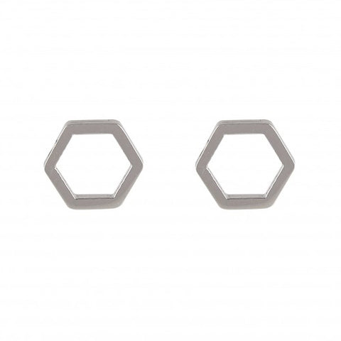 Hexagon Studs - Loola Loves UK