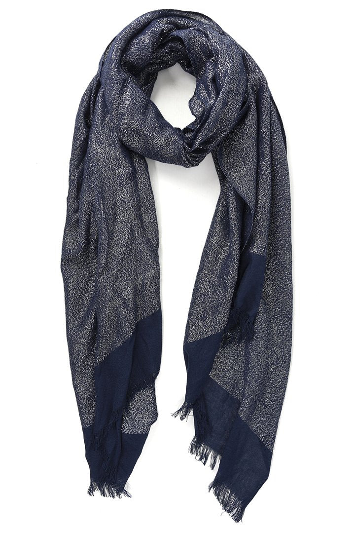 Shimmer Scarf in Midnight Blue