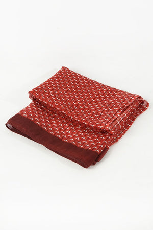 Red, White and Deep Red Scarf