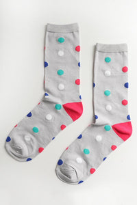 Bamboo Socks With Bright Spots