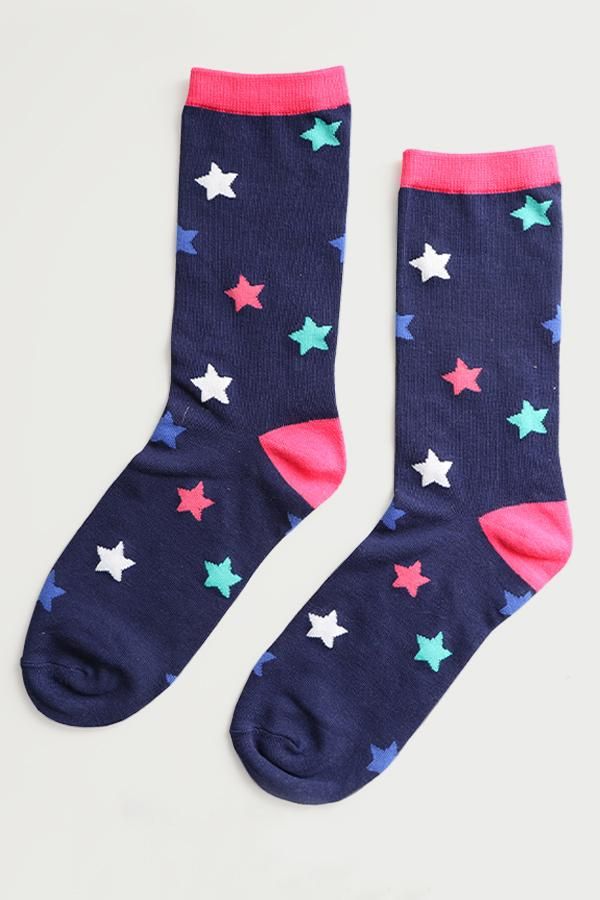 Bamboo Socks With Bright Stars