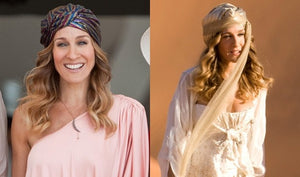 Gold Crescent Moon & Star Necklace (as Worn by Carrie Bradshaw!)