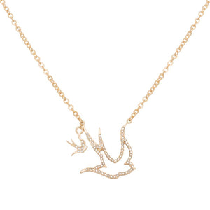 Gold Swallow Necklace