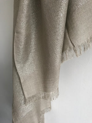 Stone and Silver Shimmery Metallic Scarf